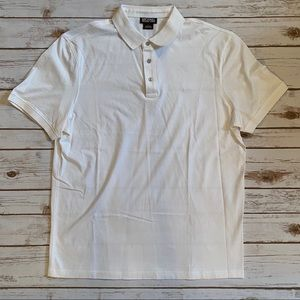 MICHAEL MICHAEL KORS WHITE SHORT SLEEVE POLO